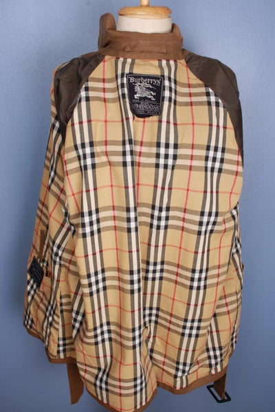 Brown Burberry Short Trench Coat Lining