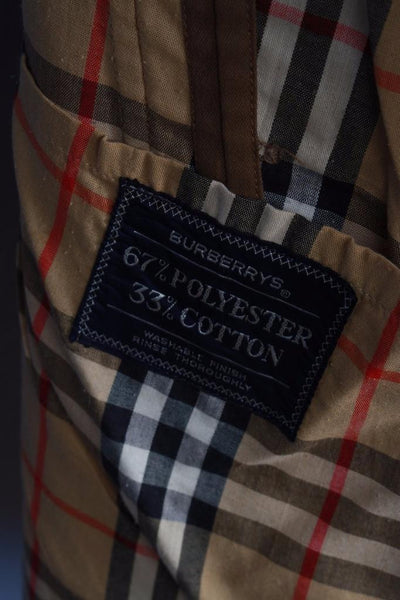 Brown Burberry Short Trench Coat Label material