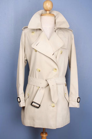 Womens Burberry Short Trench Coat Front