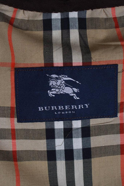 Burberry Short Trench Coat label