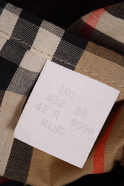Burberry Short Trench Coat label 3