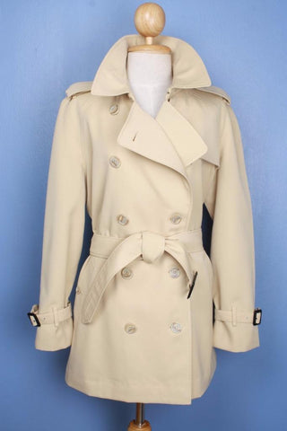 Mustard Burberry trench coat front