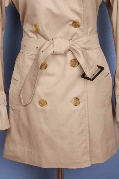 Womens BURBERRY Short TRENCH Coat Mac Beige Belt