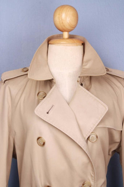 Womens Bespoke BURBERRY Short TRENCH Coat  Beige  Collar