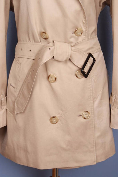 Womens Bespoke BURBERRY Short TRENCH Coat  Beige Belt