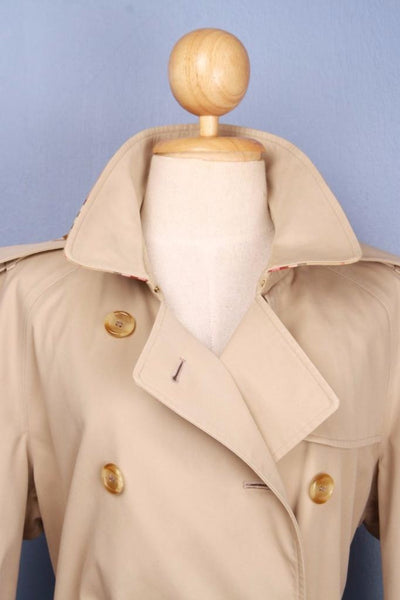 Womens BURBERRY Bespoke Short TRENCH Coat collar