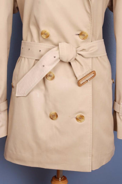 Womens BURBERRY Bespoke Short TRENCH Coat belt
