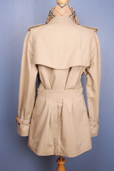 Womens BURBERRY Bespoke Short TRENCH Coat back