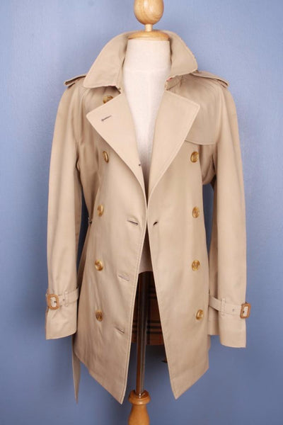 Womens BURBERRY Bespoke Short TRENCH Coat front open