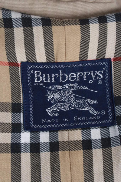 Womens BURBERRY Bespoke Short TRENCH Coat label
