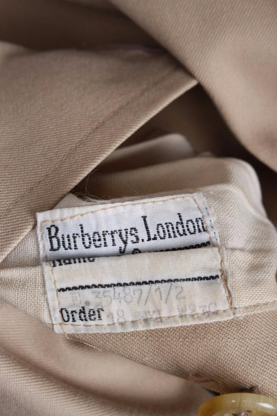 Womens BURBERRY Bespoke Short TRENCH Coat size label