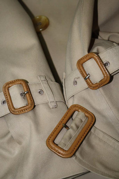 Womens BURBERRY Bespoke Short TRENCH Coat buckles