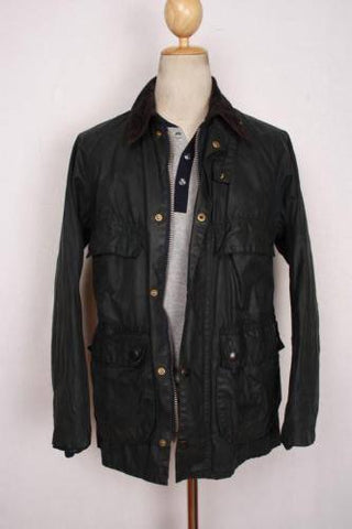 Mens Coat - Mens BARBOUR Beaufort Waxed Jacket Navy - Size 44
