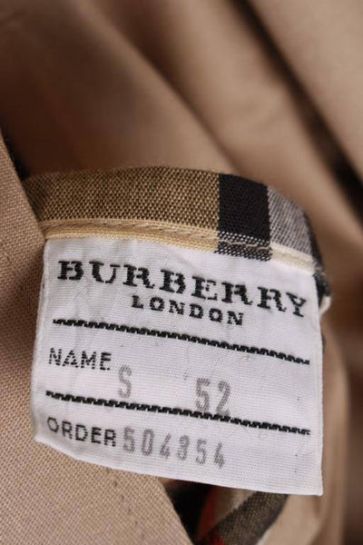 Burberry short trench coat size label