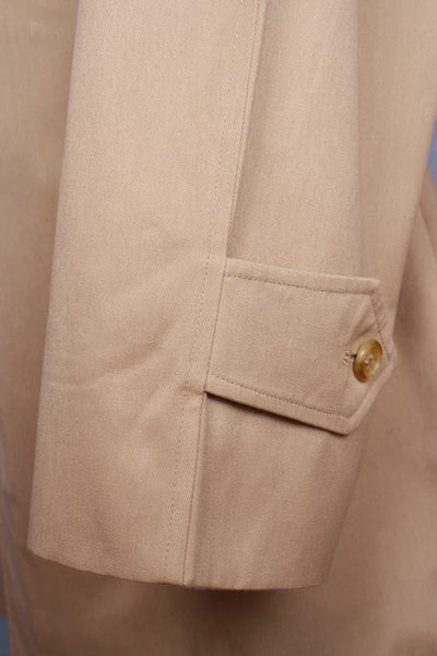 Sleeve beige short trench coat