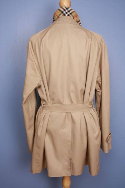 Mens Coat - Mens BURBERRY Bespoke Short TRENCH Coat Mac Beige Size UK/USA 44/46