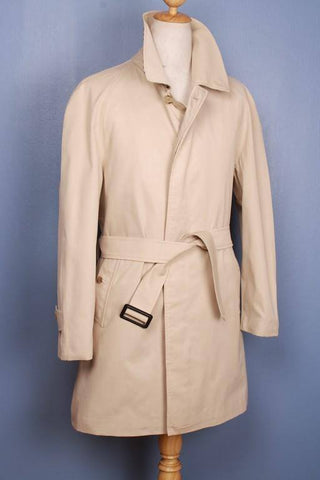 Mens Coat - Mens BURBERRY Bespoke Short TRENCH Coat Mac Beige UK/USA 36/38 STUNNING