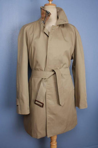 Mens Coat - Mens BURBERRY Bespoke Short TRENCH Coat Mac Beige UK/USA 42/44 Large STUNNING