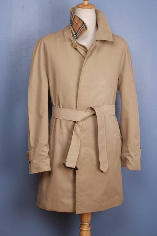 Mens Coat - Mens BURBERRY Bespoke Short TRENCH Coat Mac UK/USA 38/40 Medium