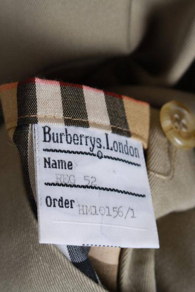 Mens Coat - Mens BURBERRY Bespoke Short Trench Coat Mac UK/USA 38/40 Medium STUNNING