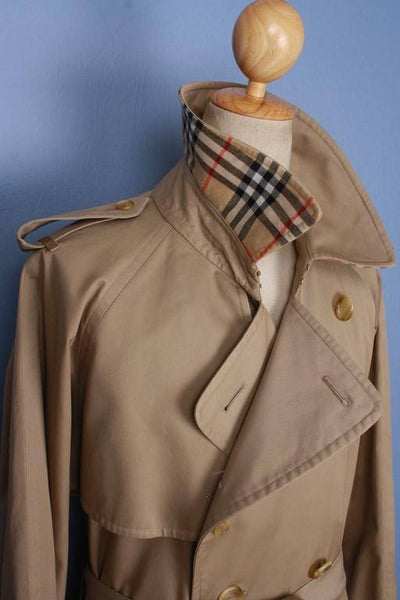 Mens Coat - Mens BURBERRY Bespoke Short TRENCH Coat Mac UK/USA 42/44 Large