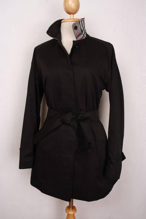 Womens BURBERRY Bespoke SHORT Trench Coat Mac Black