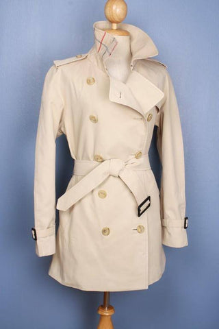 Womens Coat - Womens BURBERRY Bespoke Short Trench Coat Mac - Size UK 12/14 M/L