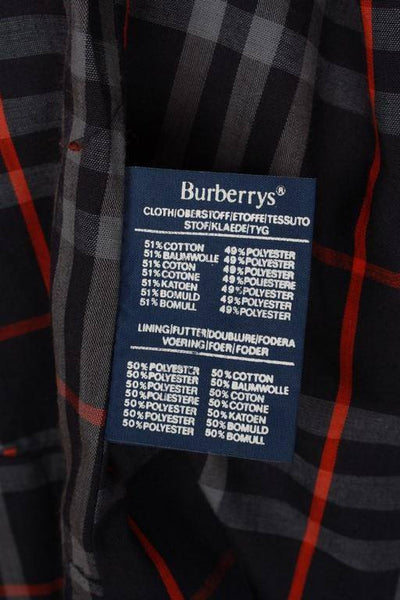 Womens Coat - Womens BURBERRY Bespoke Short Trench Coat Navy - Size 12/14 M/L