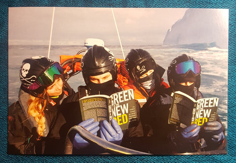 """Green is the New Red"" Sea Shepherd Crew Postcard"