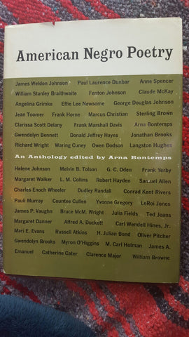 American Negro Poetry (Hardcover, Used)