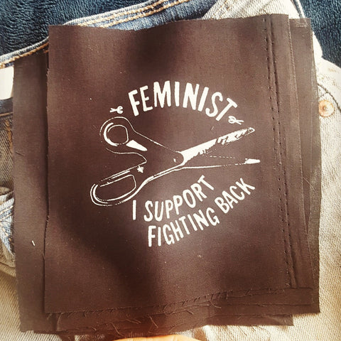 """Feminist - I Support Fighting Back"" patch"