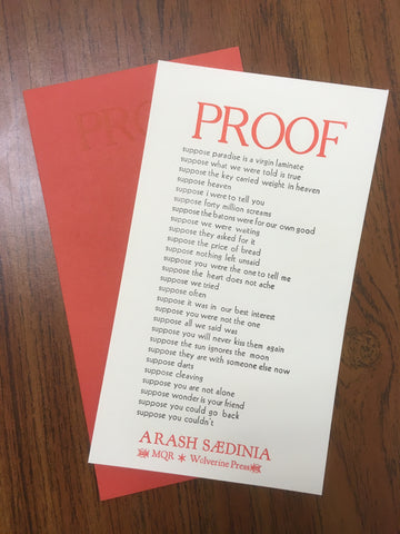"""Proof"" Letterpress Print"