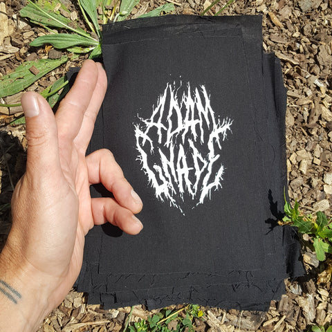 Adam Gnade black metal patch