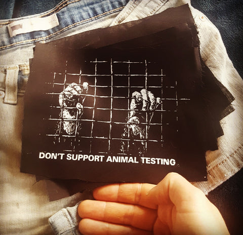 """Don't Support Animal Testing"" patch"