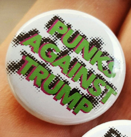 "Punks Against Trump 1"" pins 2-pack"