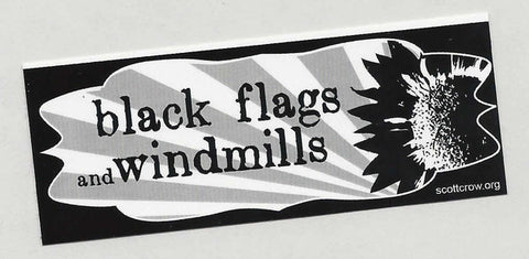 Black Flags and Windmills sticker - Pioneers Press
