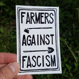 Farmers Against Fascism sticker