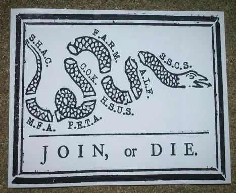 Join, or Die. sticker - Pioneers Press