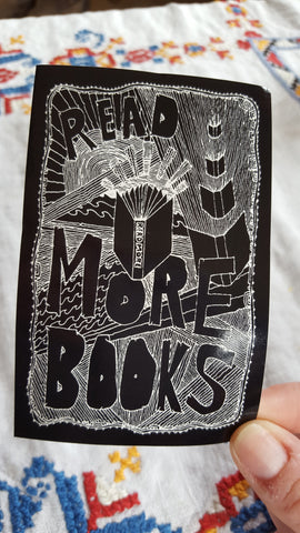 Read More Books sticker - Pioneers Press