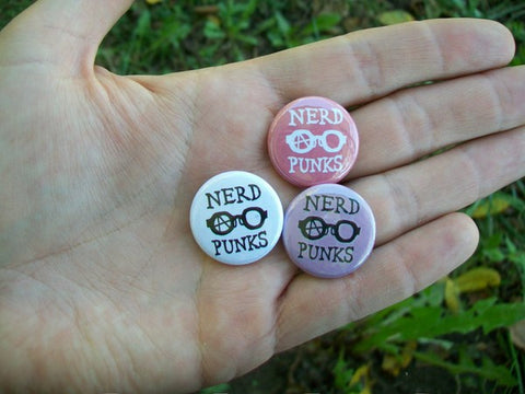 Nerd Punks button - Pioneers Press