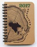 2017 Organizer from Eberhardt Press & Just Seeds (small-size, perfect-bound)