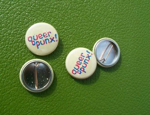 Queer Punx button - Pioneers Press