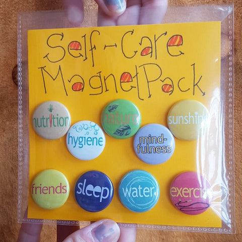 Self-Care Reminder Magnet Pack (or Button Pack) - Pioneers Press