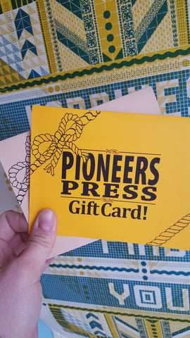 Pioneers Press Gift Certificate! - Pioneers Press