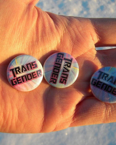 Transgender button - Pioneers Press
