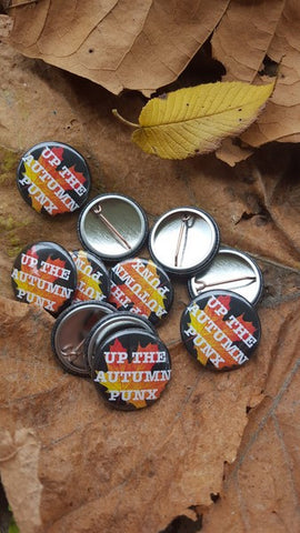 Up the Autumn Punx! button - Pioneers Press