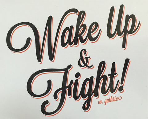 #S13 Wake Up & Fight Sticker
