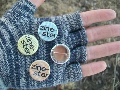 Zinester button - Pioneers Press