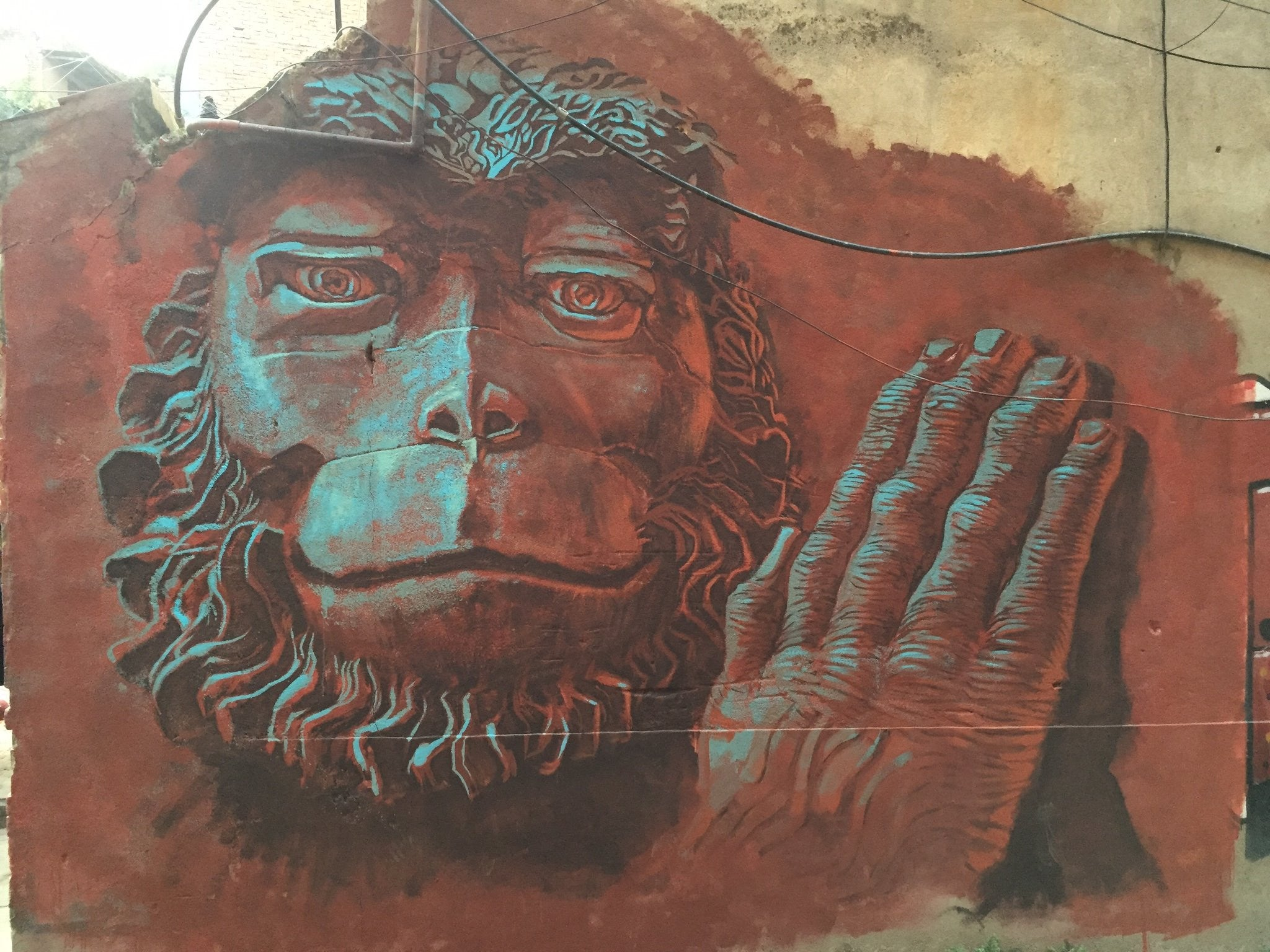 Imagined Realities, Part I: Monkey Spirit Mural, Kathmandu