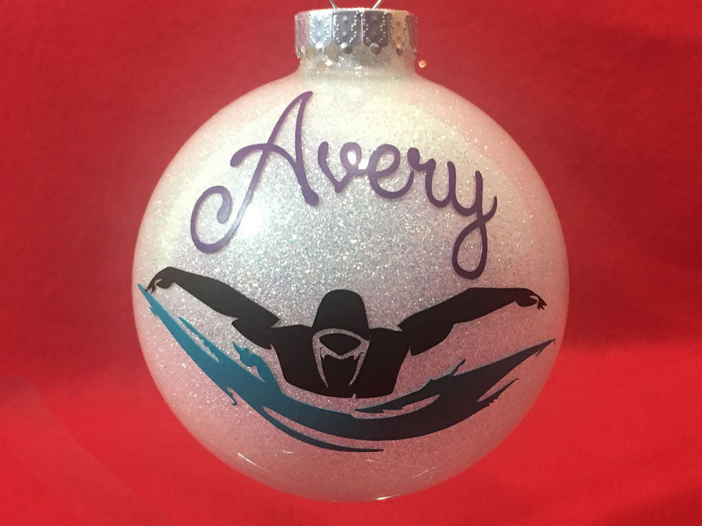 personalized swim ornament